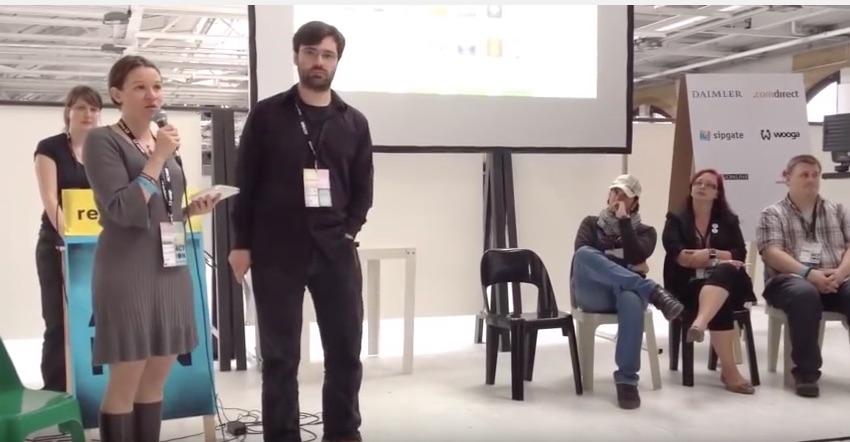 Vortrag auf der re:publica 12 mit dem Flying Sparks Team